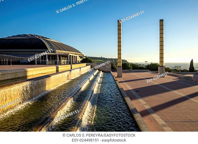 Palau Sant Jordi at Olympic Park of Montjuic in Barcelona Catalonia Spain