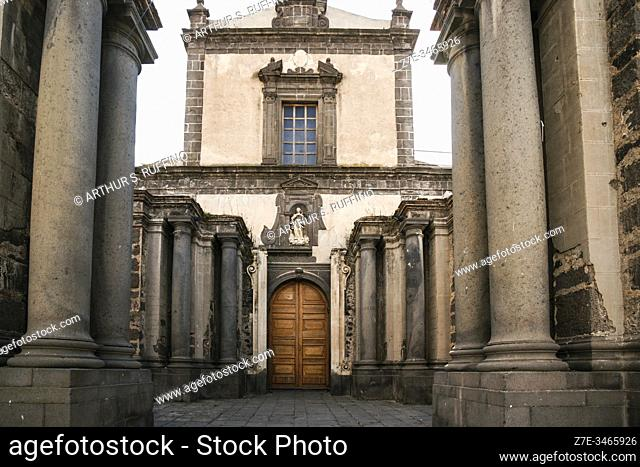 St. Mary of the Assumption Church (Chiesa Maria Assunta). Mother church. Piazza Umberto I, Adrano, Sicily, Italy