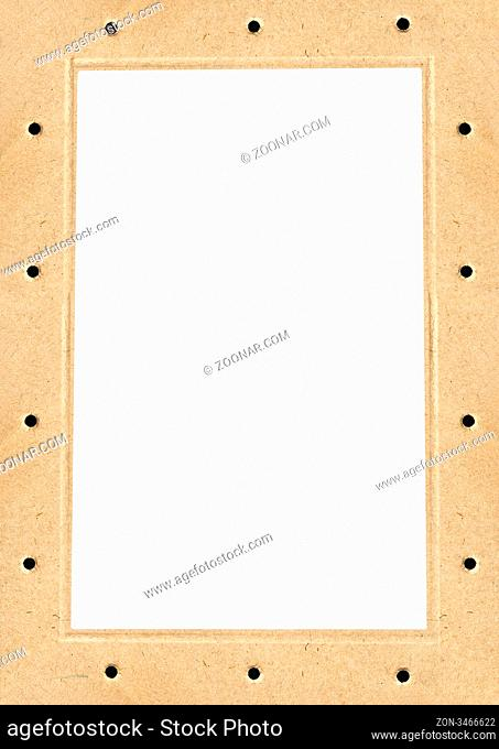Cardboard frame with isolated space