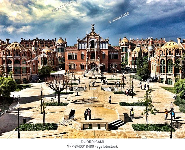Hospital de la Santa Creu i Sant Pau (1901-1930, Modernist). Barcelona. Catalonia, Spain