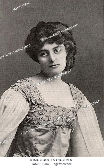 Maud Gonne 1865-1953, Mrs John MacBride, ardent Irish Nationalist and, from 1916, an active member of Sinn Fein  She was the dedicatee of many poems by William...