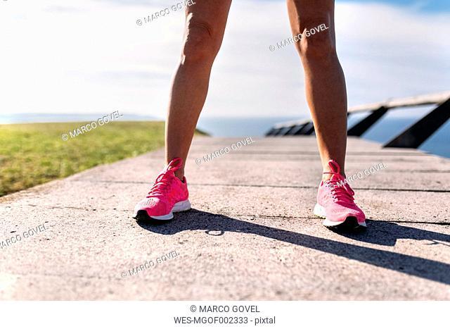 Legs of female runner