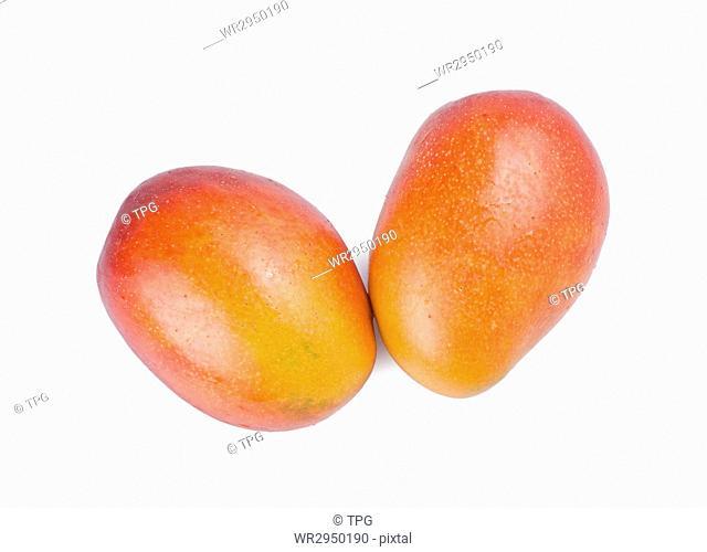 Isolated mango fruit on white background