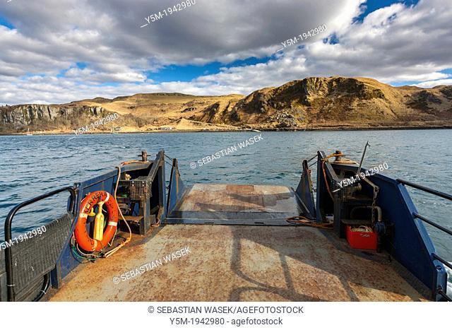Ferry on Kerrera Island, Argyll and Bute, Scotland, UK, Europe