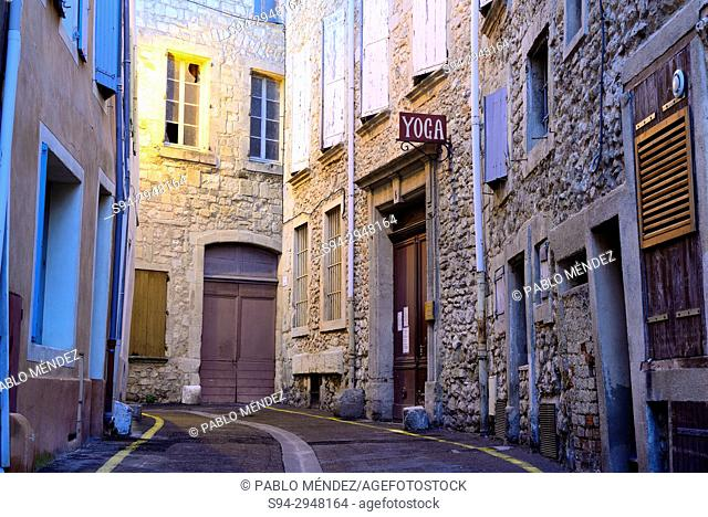 Street in the Old town of Narbonne, Languedoc-Roussillon, France