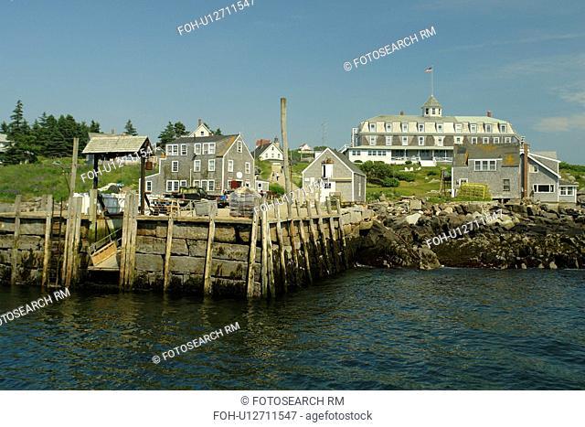 Monhegan Island, ME, Maine, boat landing