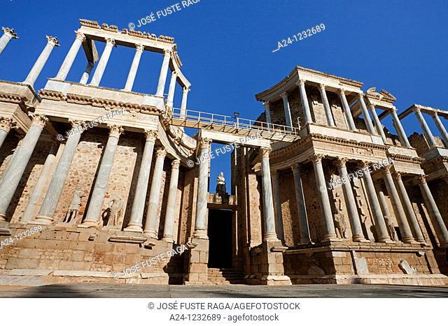 Spain, summer 2010,Merida City UNESCO,The roman theatre