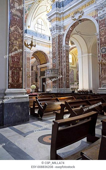 Indoor Monopoli Cathedral. Apulia