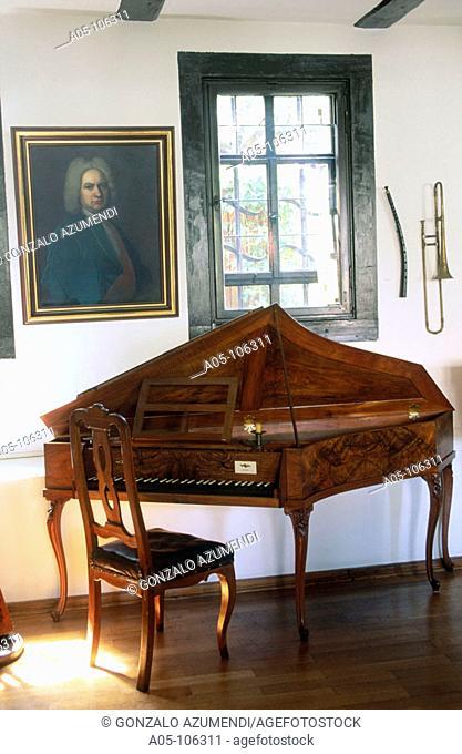 'Spinet' by Johann Heinrich Silbermann (1760). House of Bach. Eisenach. Thuringia. Germany