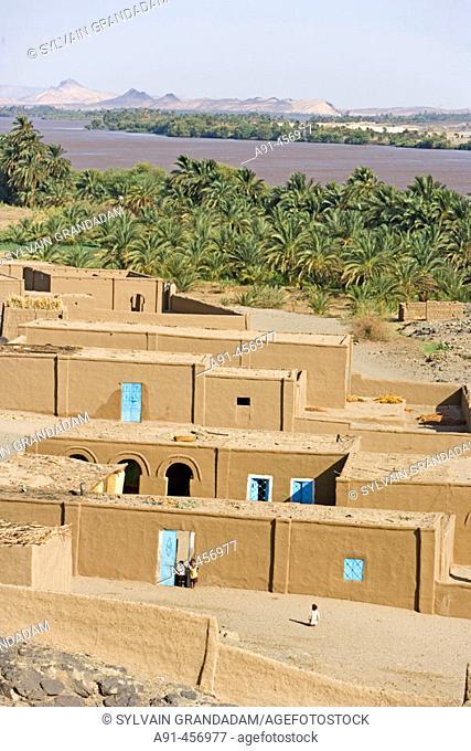 Nile River near Sesebi. Upper Nubia, Sudan