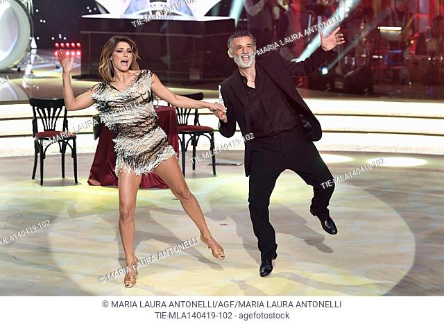 Enrico Lo Verso during the performance at the talent show ' Ballando con le stelle ' (Dancing with the stars) Rome, ITALY-14-04-2019