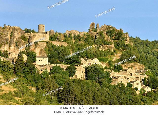 France, Aveyron, Parc Naturel Regional des Grands Causses (Grands Causses Natural Regional Park), La Dourbie Valley, Saint Veran