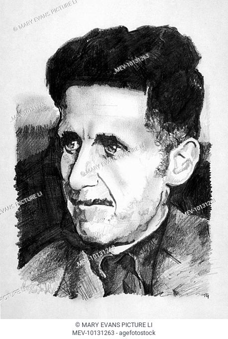 GEORGE ORWELL (real name Eric Arthur Blair) English writer, fought in Spanish Civil War on the Republican side and gained fame with novels Animal Farm (1944)...