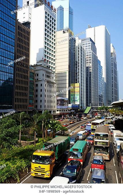 China, Hong-Kong, Hong Kong Island, Connaught road Central