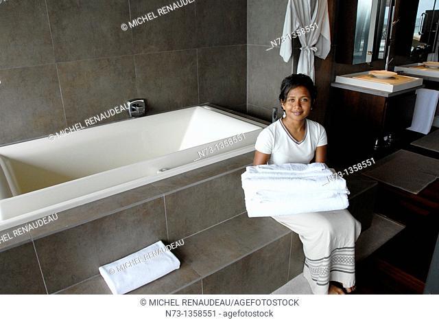 Maldives, Huvafen Fushi Per Aquum Resort, Suite de Luxe