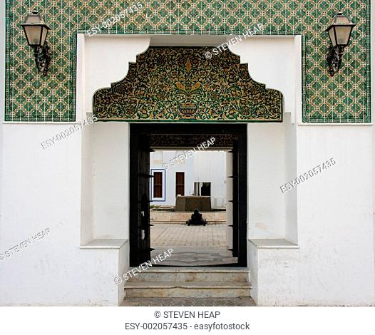 Entrance to Fort in Abu Dhabi