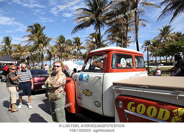 Old car at the Festival in Ocean Dr, Miami Beach, Florida, USA