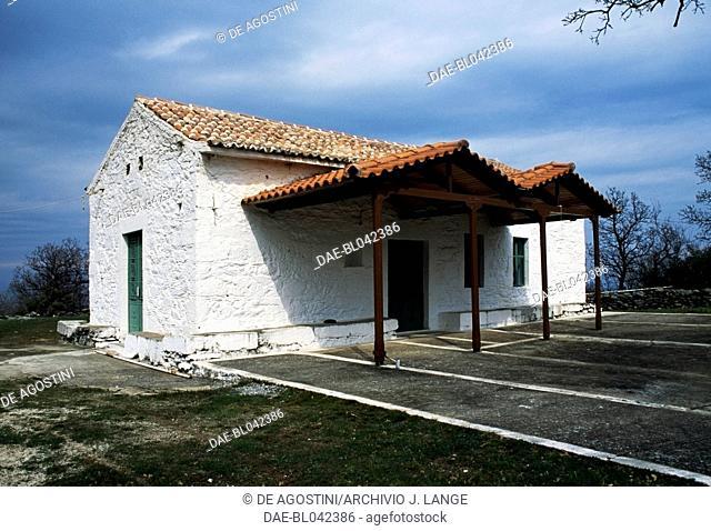 Church of Agios Ilias built on the Apollon Temple ruins, Tyros, Arcadia, Greece