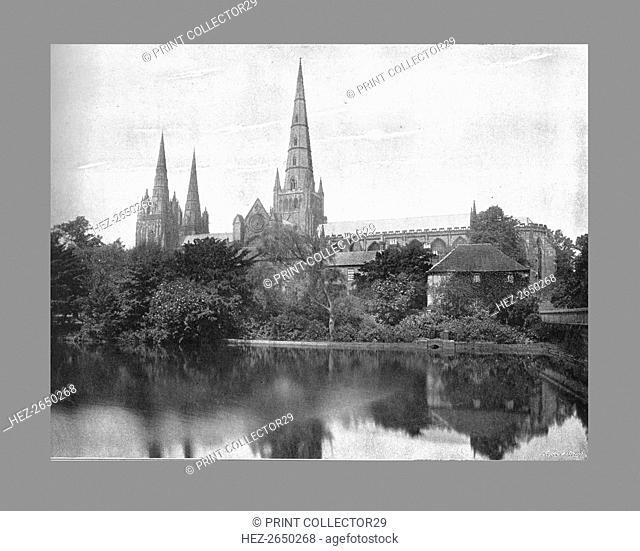 Lichfield Cathedral, c1900. Artist: Valentine & Sons