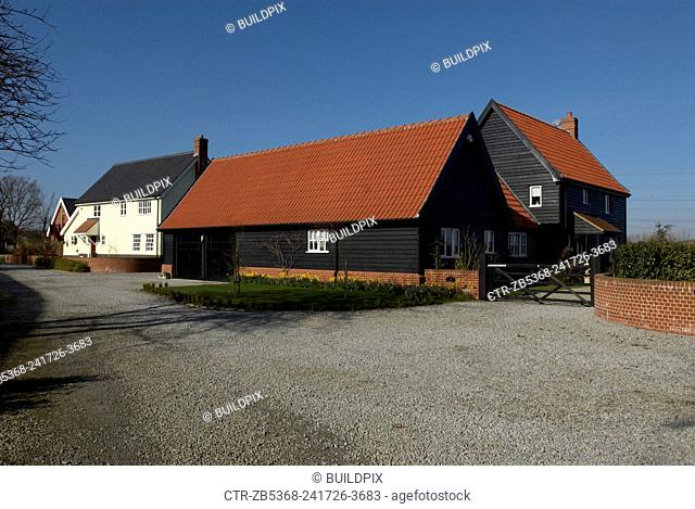 Modern countryside housing development, Suffolk, United Kingdom