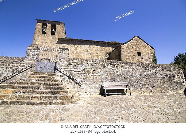 Aratores village Jacetania Huesca Spain San Juan Bautista church