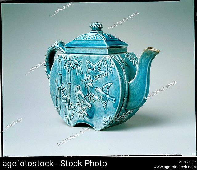 Teapot. Manufacturer: Manufactured by Chelsea Keramic Art Works (1872-1889); Date: 1879-83; Geography: Made in Chelsea, Massachusetts