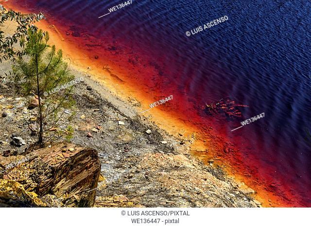 Red river, Riotinto mines, Rio Tinto river, Huelva, Andalusia, Spain