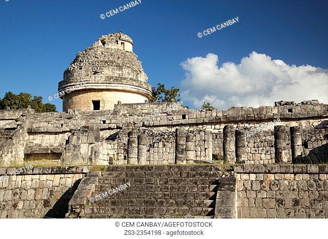 Observatory-El Caracol in Chichen Itza Ruins, Chichen Itza, Yucatan Province, Mexico, Central America