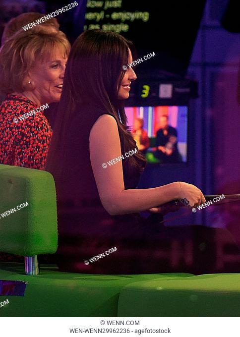 Cheryl Cole appears as a guest on The One Show at the BBC studios. Cheryl makes sure to keep herself covered up, as rumours of her being pregnant continue...