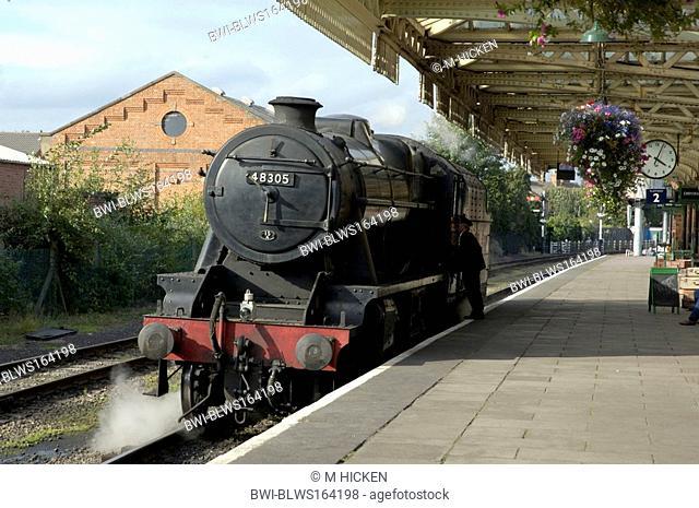 class 48 train, great central railway, United Kingdom, England, Leicestershire, Loughborough