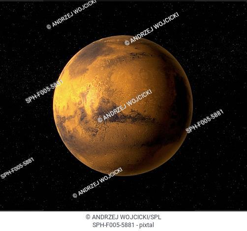 Mars, computer artwork