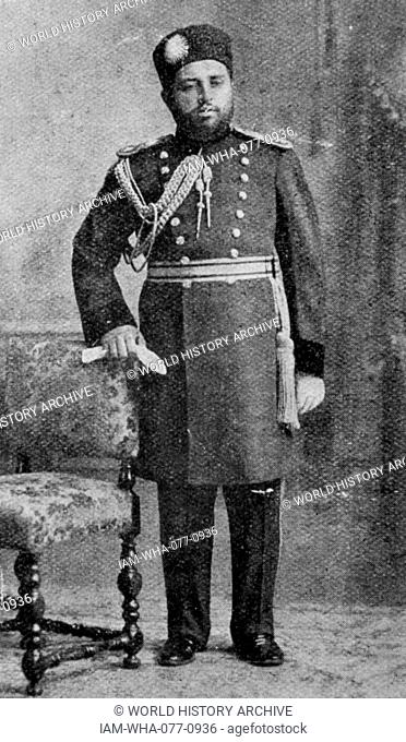 Photographic portrait of Habibullah Khan (1872-1919) the Emir of Afghanistan. Dated 20th Century
