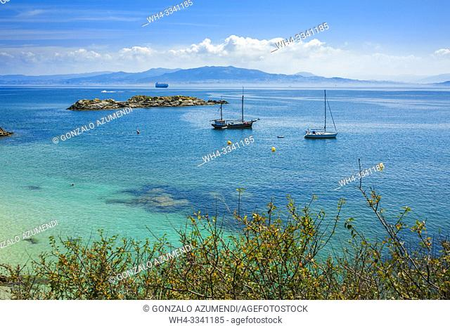 Cíes Islands. Maritime Terrestrial National Park of the Atlantic Islands. Pontevedra Province. Galicia. Spain