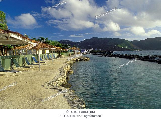 resort, pool, Tortola, British Virgin Islands, Road Town, Caribbean, BVI, Sea Pool at Prospect Reef Resort in Road Town on the island of Tortola on the...