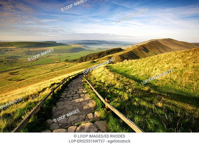 Mam Tor and view over Edale Valley