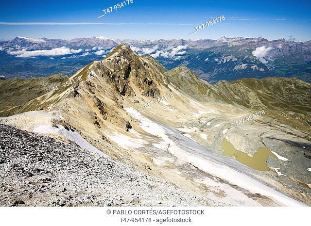 Bella Tola Peak near Vissoie, Wallis, Switzerland