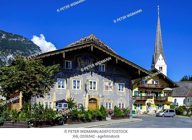 Garmisch-Partenkirchen, Garmisch, Partenkirchen, The Inn Husar, Werdenfels, Bavaria, Upper Bavaria, Germany