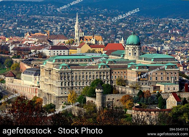 View of the Royal Palace in Buda, Budapest, Hungary