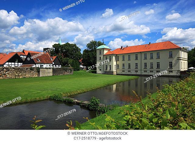 Germany, Herten, Ruhr area, Westphalia, North Rhine-Westphalia, NRW, Herten-Westerholt, Old Village Westerholt, Alte Freiheit Westerholt, town wall