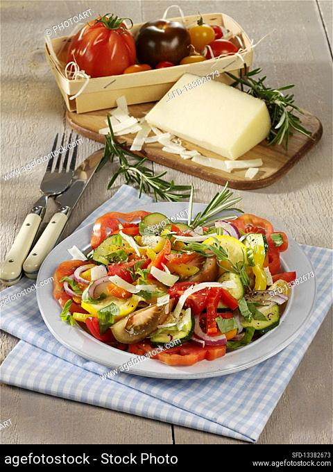 Ratatouille salad with Manchego