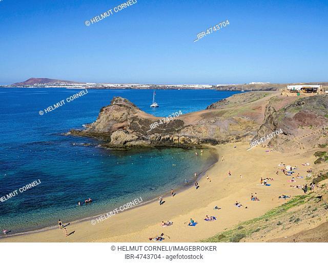 Playas de Papagayo, Los Ajaches Natural Park, Punta Papagayo, Playa Blanca, Lanzarote, Canary Islands, Spain