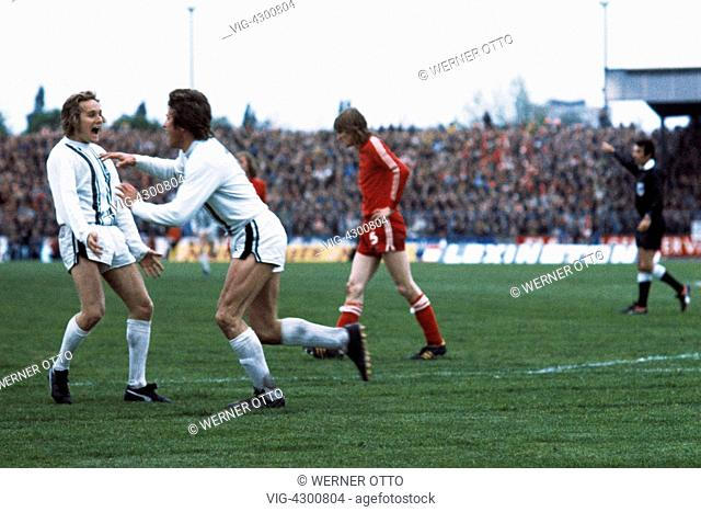 football, UEFA Cup, Europa League, 1974/1975, final, return leg, Diekman Stadium, FC Twente Enschede versus Borussia Moenchengladbach 1:5
