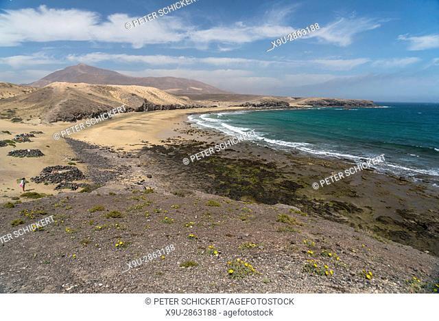 beach, Caleta del Congrio, Playas de Papagayo near Playa Blanca, Lanzarote, Canary Islands, Spain