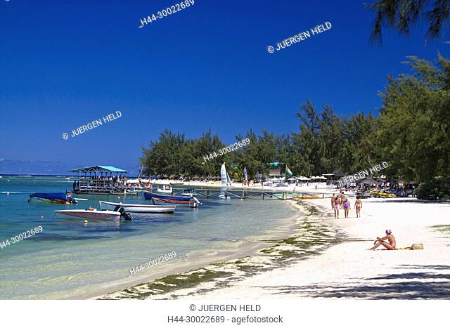 Beach of Club Med at La Pointe aux Canonniers at north east coast Mauritius, Africa