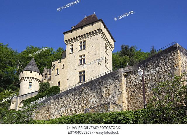 Architecture of La Roque-Gageac, Dordogne, Aquitaine, France