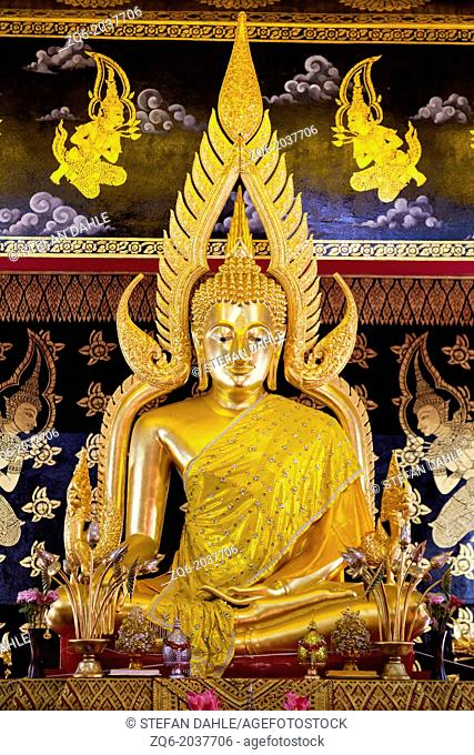 Buddha Statue in the Temple Wat Phan On in Chiang Mai, Thailand