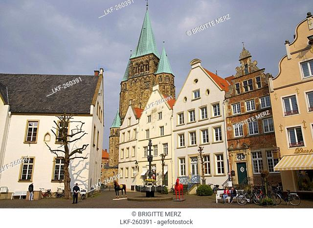 outdoor photo, spring, day, Warendorf: town of horses, Muensterland, North Rhine-Westphalia, Germany, Europe