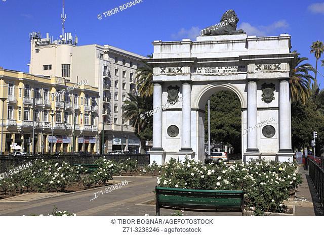 Chile, Valparaiso, Avenida Brasil, British Arch,