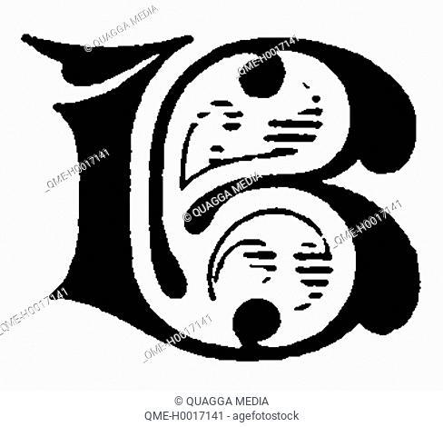 Alphabet character, letter B