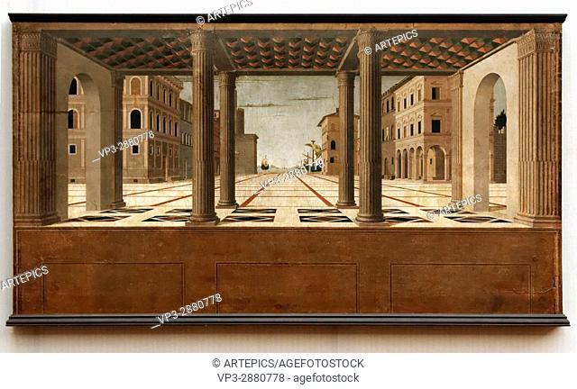 Francesco di Giorgio Martini - Architectural vista - 1490 - XV th Century - Italian School - Gemäldegalerie - Berlin